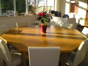 Oak Octagonal Table