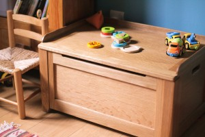 Solid Oak Toy Box / Seat