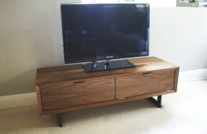 T.v unit in walnut