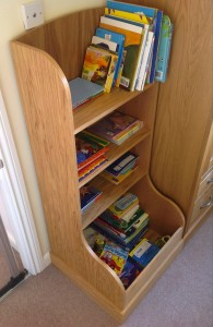 Oak child's bookcase