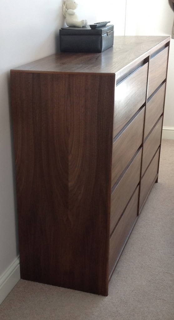 American walnut chest of drawers chapman bespoke woodwork for American walnut bedroom furniture uk