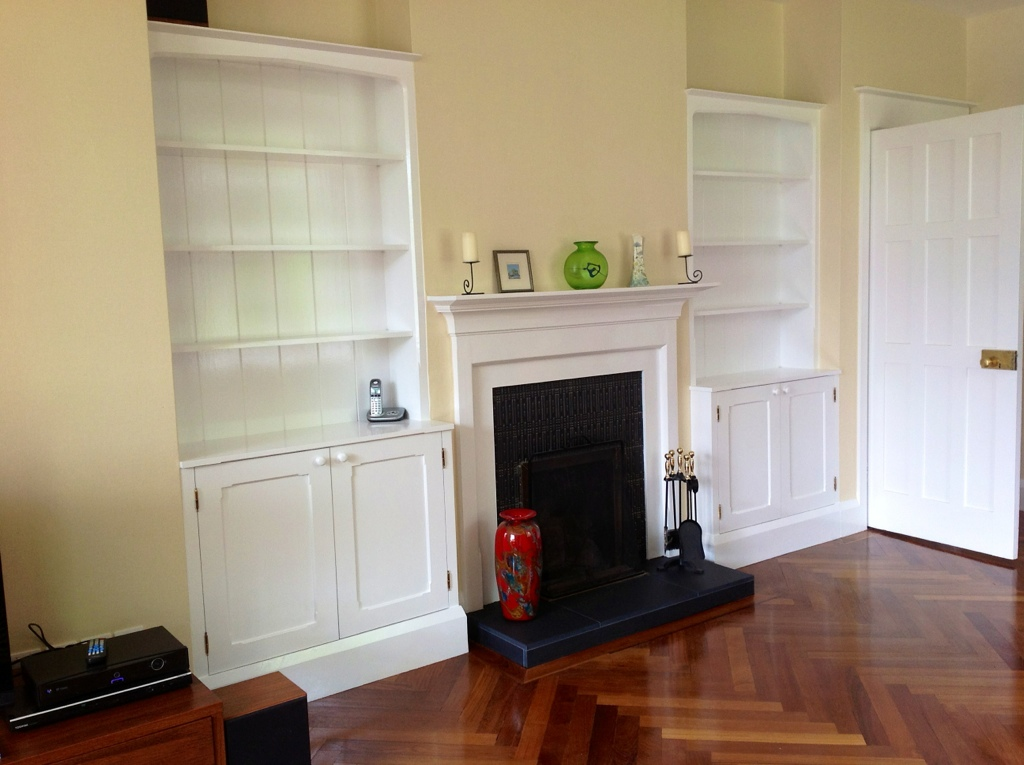 Painted White Bookcases