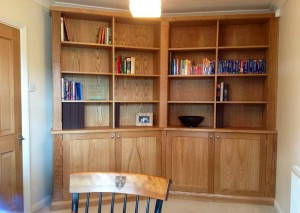 Oak Bookcase With 15 Degree Angle