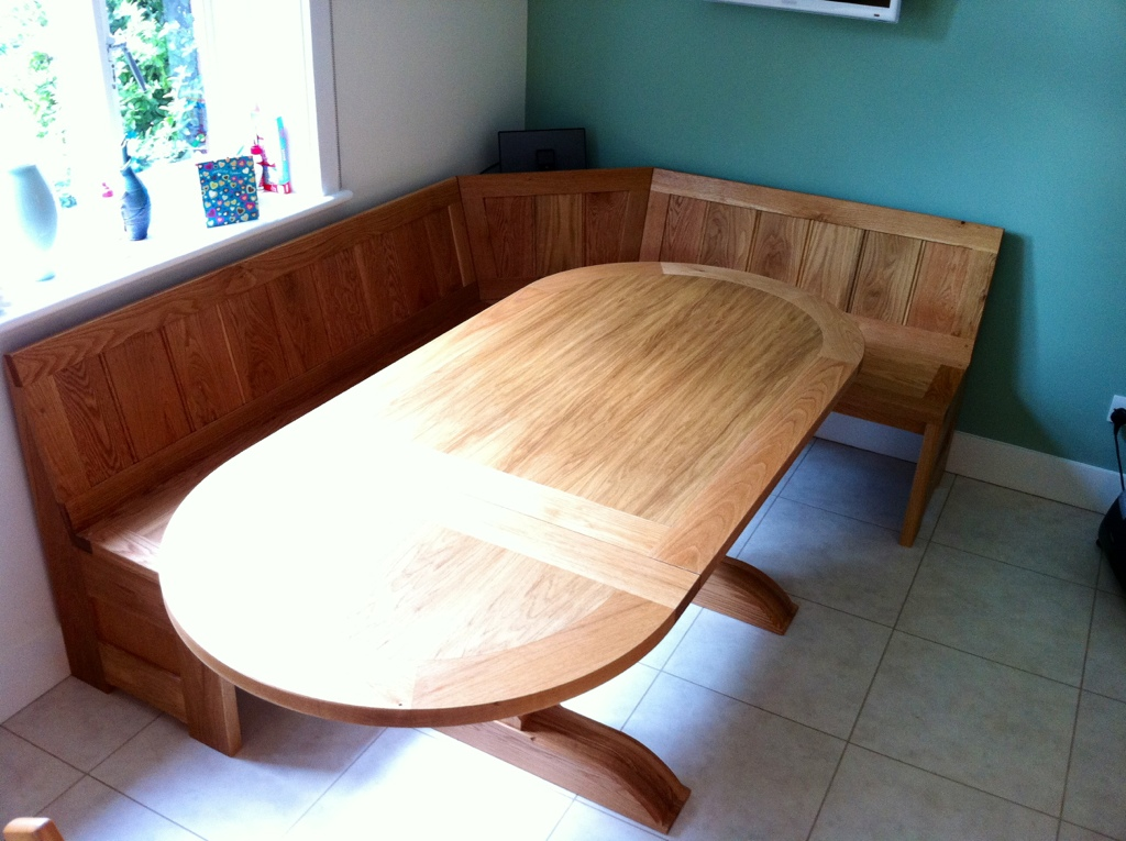 Oak Refectory Table And Bench Seats