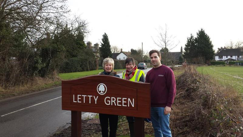 New Signs for Letty Green
