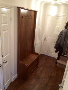 Hallway seat and storage